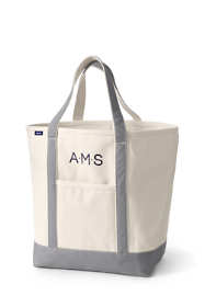 Large Natural Open Top Canvas Tote Bag