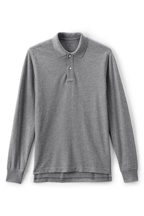 Men's Long Sleeve Performance Mesh Polo
