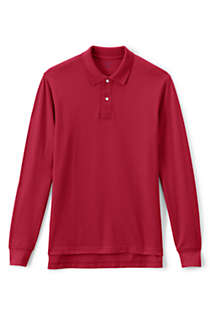 Men's Tall Long Sleeve Mesh Polo Shirt, Front