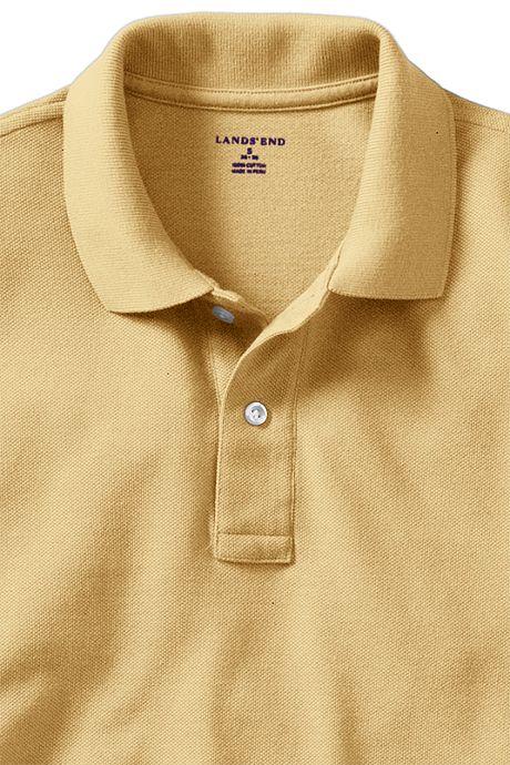 School Uniform Men's Long Sleeve Performance Mesh Polo