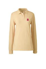 School Uniform Women's Long Sleeve Performance Mesh Polo