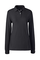 Women's Long Sleeve Performance Mesh Polo Shirt