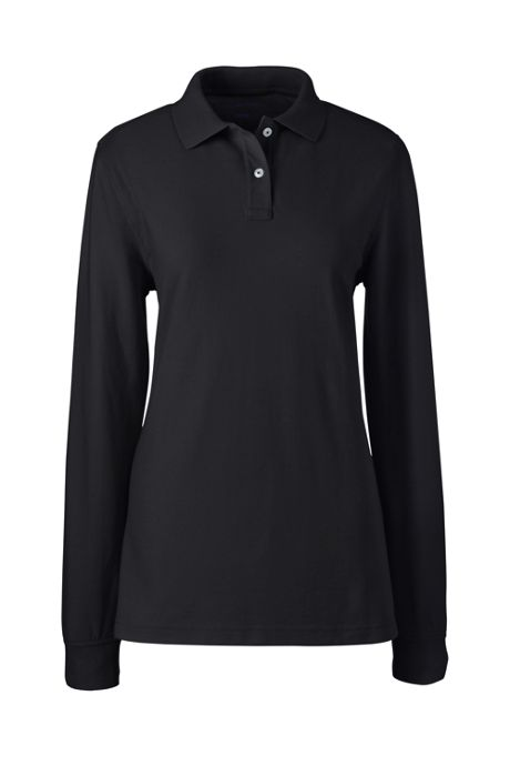 Women's Long Sleeve Performance Mesh Polo