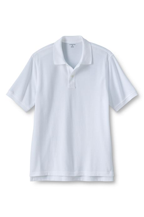 School Uniform Men's Tall Short Sleeve Mesh Polo Shirt