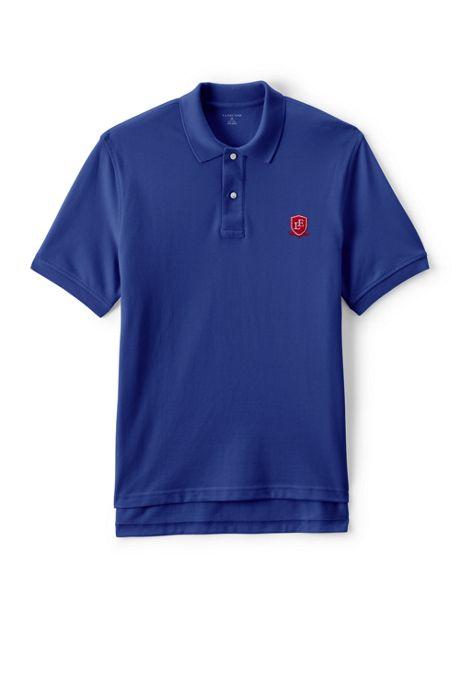 School Uniform Logo Men's Short Sleeve Performance Mesh Polo