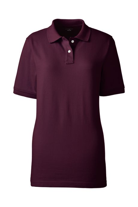Women's Short Sleeve Mesh Polo Shirt