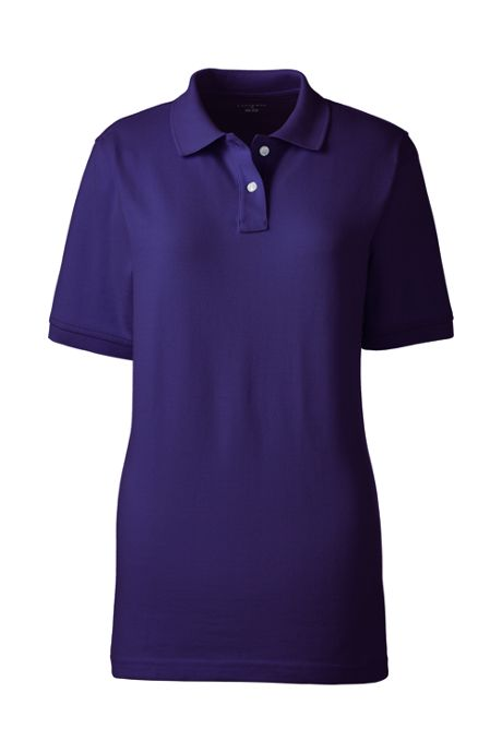 School Uniform Women's Short Sleeve Mesh Polo Shirt