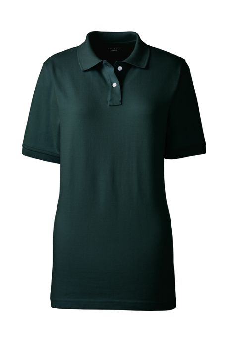 School Uniform Women's Tall Short Sleeve Mesh Polo Shirt