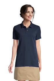 Women's Tall Short Sleeve Mesh Polo Shirt