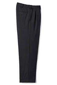 Men's Comfort Waist Pleated Year'rounder Wool Pants