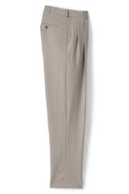 Men's Comfort Waist Pleat Wool Year'rounder Dress Trousers