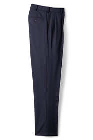 Men's Big and Tall Comfort Waist Pleated Year'rounder Wool Dress Pants