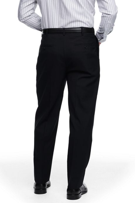 Men's Big and Tall Comfort Waist Pleated Year'rounder Wool Pants