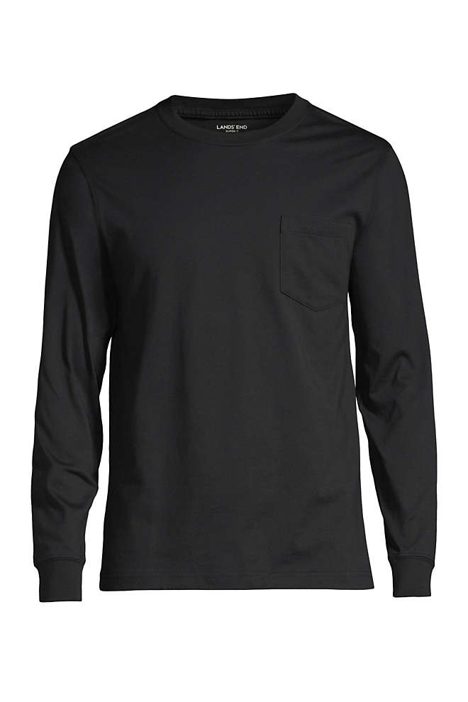 Men's Tall Super-T Long Sleeve T-Shirt with Pocket, Front