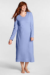 Women's Plus Size Long Sleeve Midcalf Sleep Tee