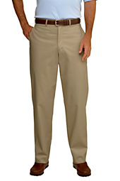 Men's Big Plain Front 60/40 Blend Chino Pants
