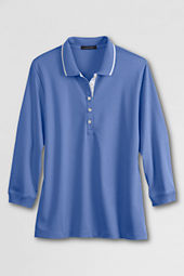 Women's Tipped Collar Pima Polo Shirt