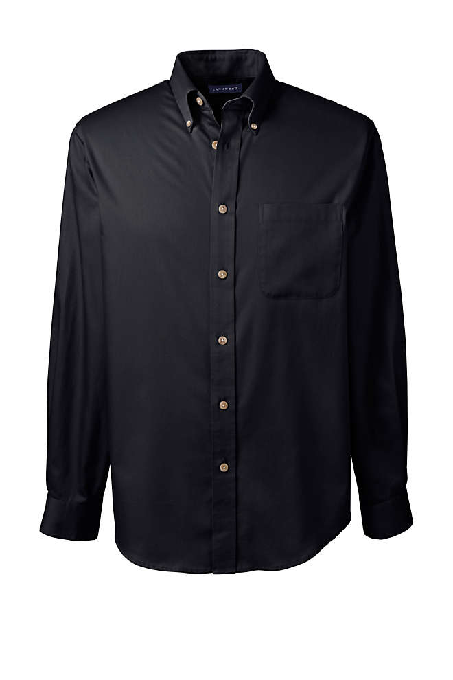 Men's Long Sleeve Performance Twill Shirt, Front
