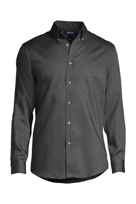 School Uniform Men's Long Sleeve Performance Twill Shirt