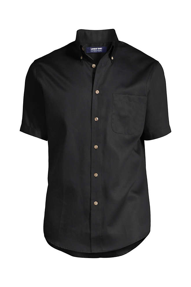 Men's Tall Short Sleeve Performance Twill Shirt, Front