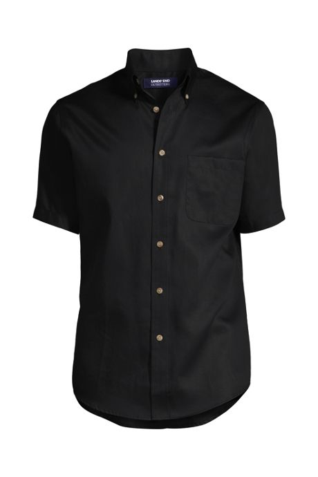 School Uniform Men's Big Short Sleeve Performance Twill Shirt