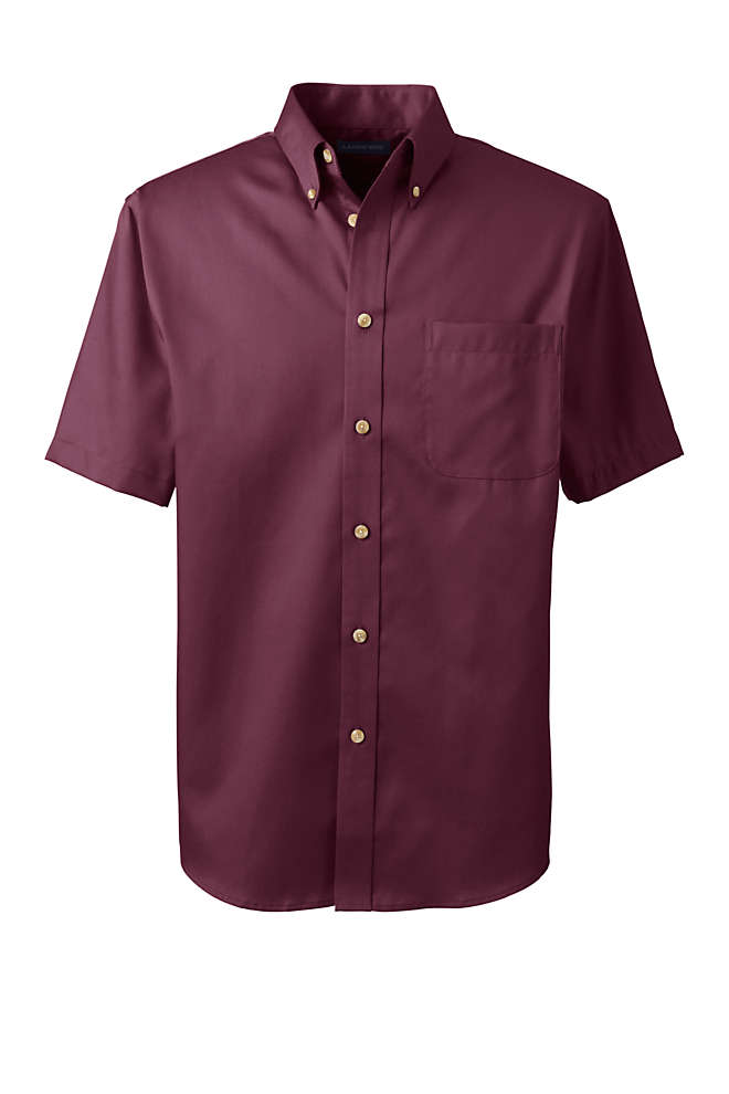 Men's Short Sleeve Performance Twill Shirt, Front