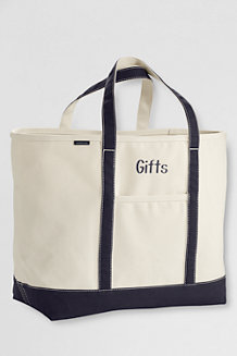Extra Large Natural Canvas Open Top Tote Bag