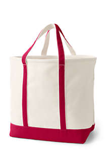 Extra Large Natural Open Top Canvas Tote Bag, Back