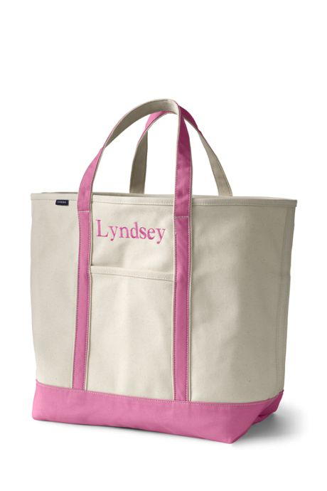 School Uniform Extra Large Natural Open Top Canvas Tote Bag