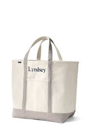 Extra Large Natural Open Top Canvas Tote Bag