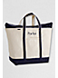 Extra Large Canvas Zip Top Tote Shopper