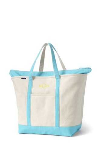 Extra Large Canvas Zip Top Tote Per