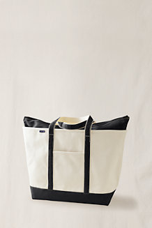 Extra Large Natural Canvas Zip Top Tote Bag