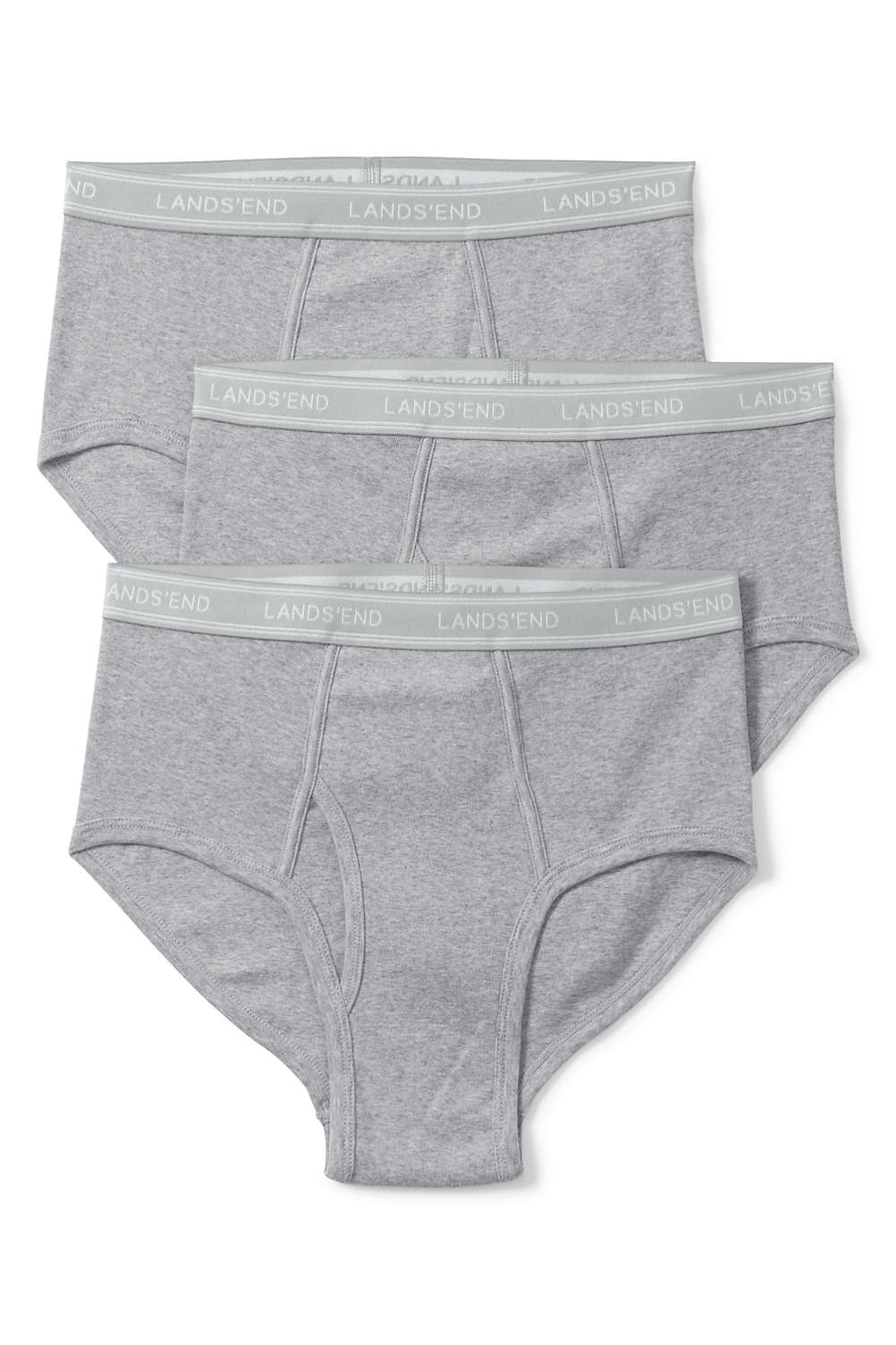 Men s Knit Briefs (3-pack) from Lands  End 6196a31a4f0