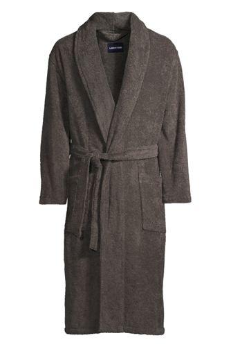 Le Peignoir en Coton French Terry Uni, Homme Taille Standard