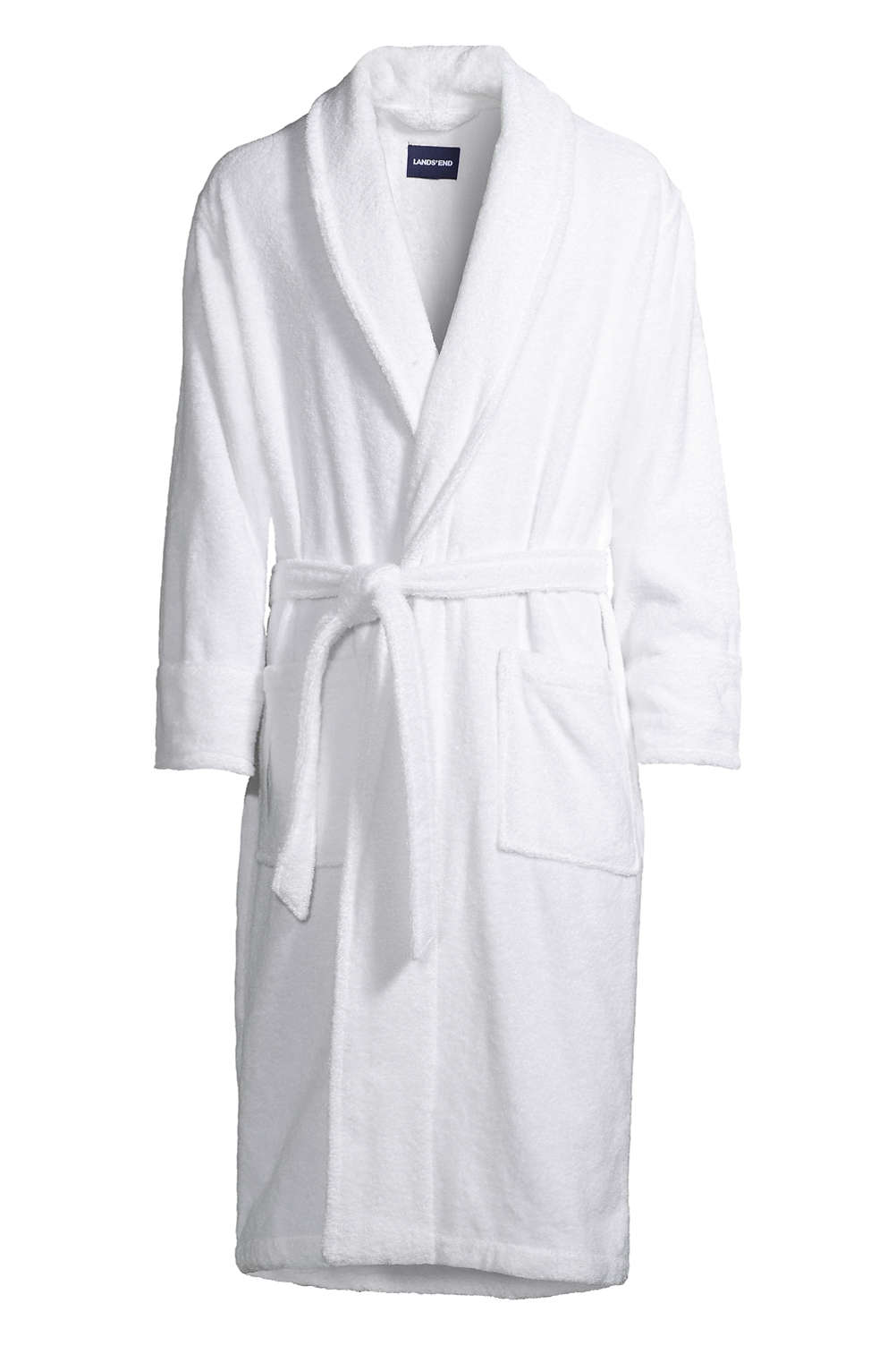 Men s Calf Length Turkish Terry Robe from Lands  End 6eea08c9e