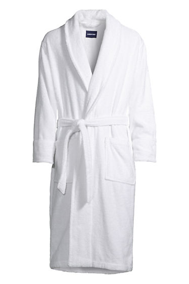 Best Prices Sale Online Mens Turkish Terry Bath Robe - 34-36 - BLUE Lands End Outlet Brand New Unisex 7F90YV