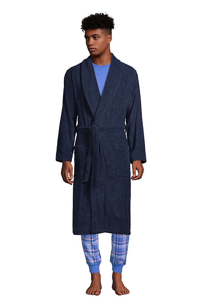 Men's Calf Length Turkish Terry Robe, Front