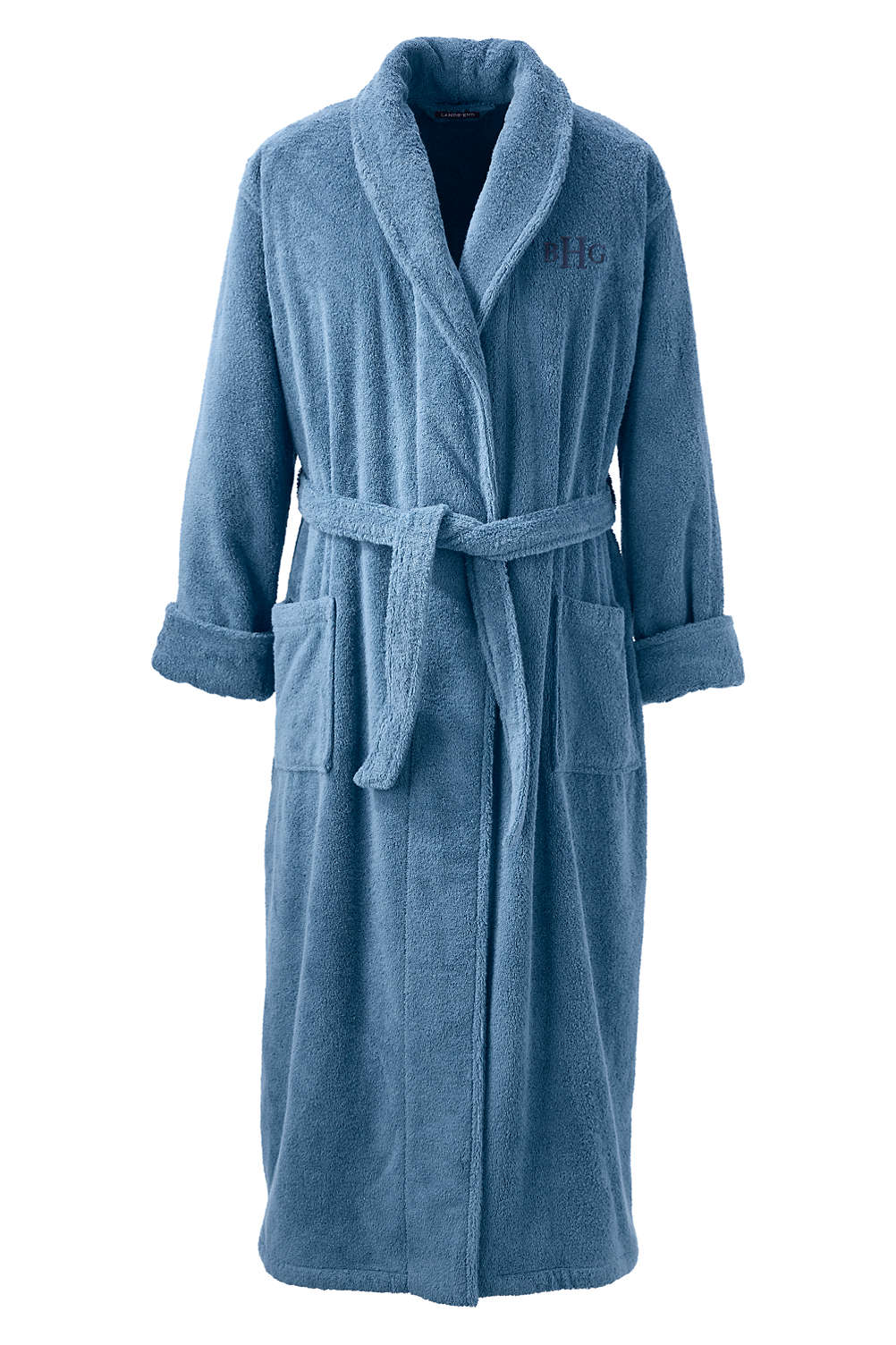 5c1fdf81b5810 Men's Full Length Turkish Terry Robe from Lands' End