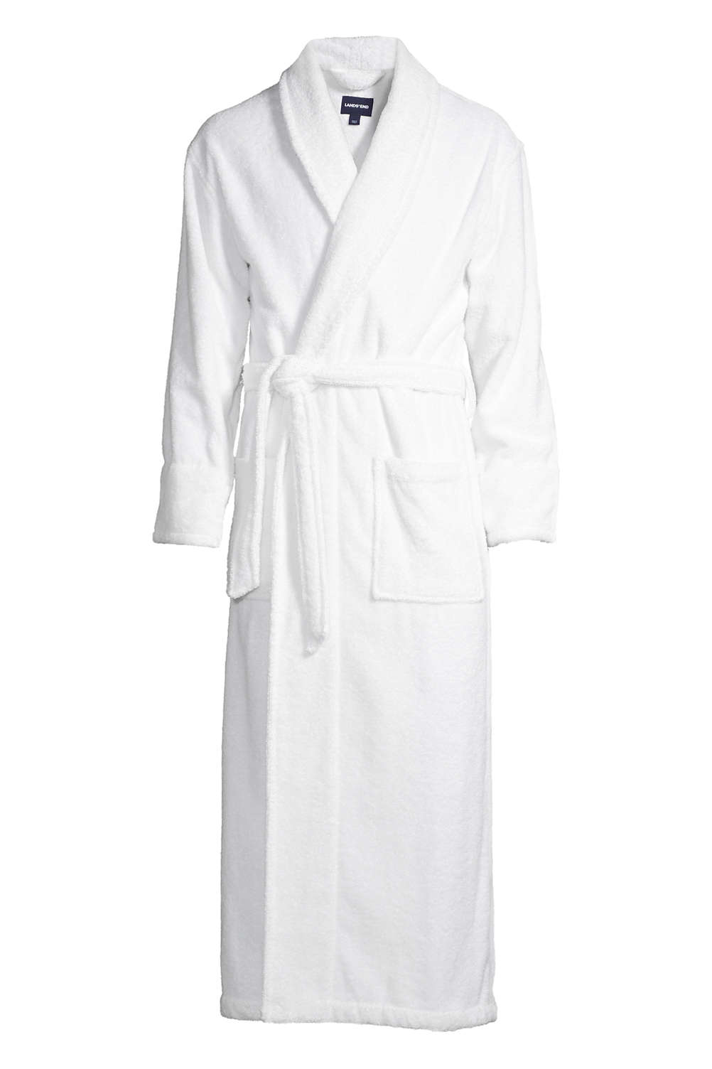 Men s Full Length Turkish Terry Robe from Lands  End 11043a10b