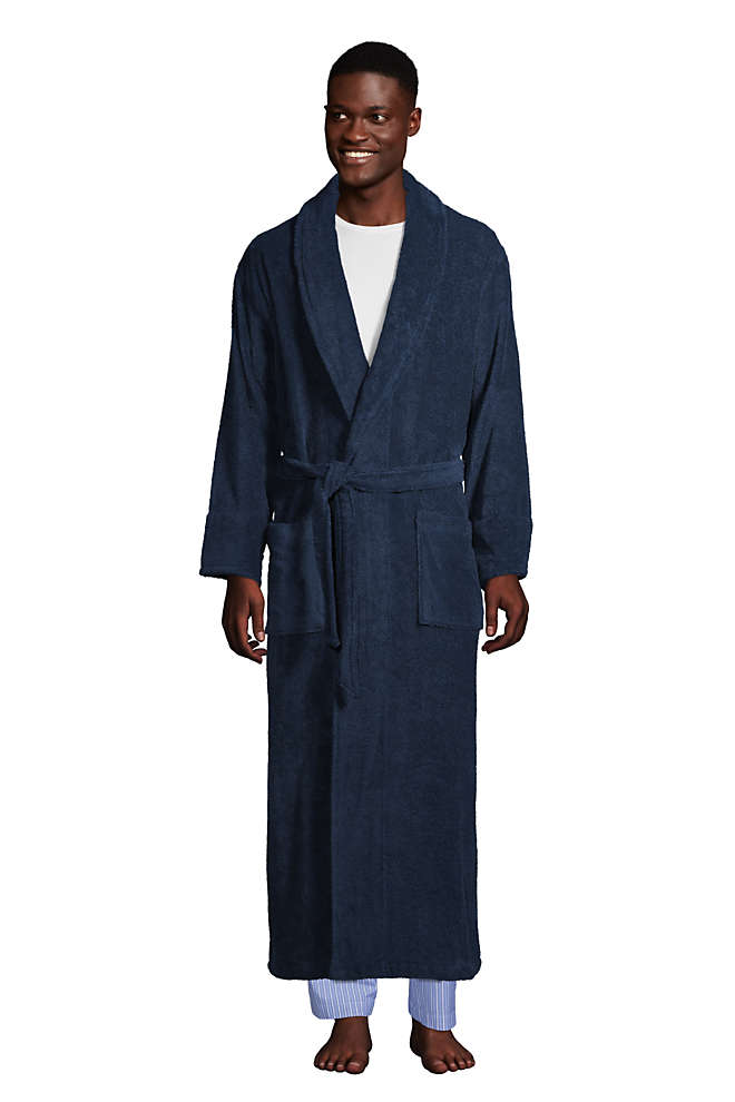 Men's Full Length Turkish Terry Robe, Front