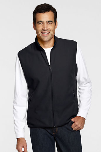 Men's Regular Fleece Vest - Black, L