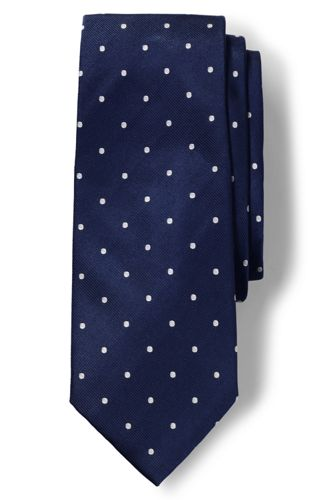 Men's Regular Churchill Dot Hand-sewn Silk Tie