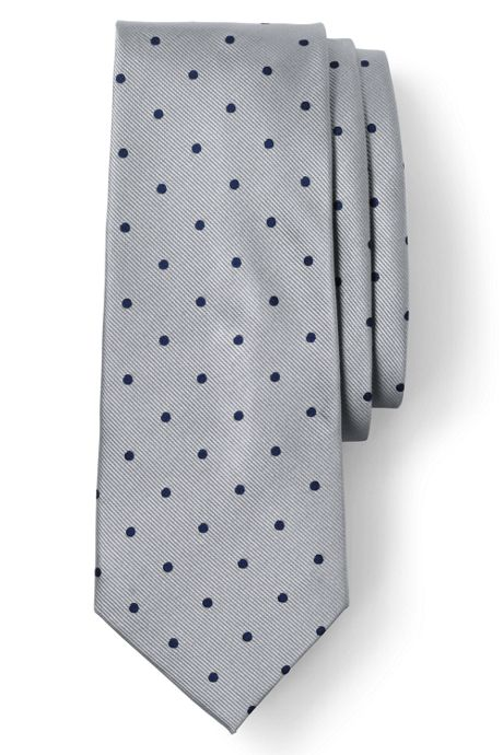 Men's Long Silk Churchill Dot Tie