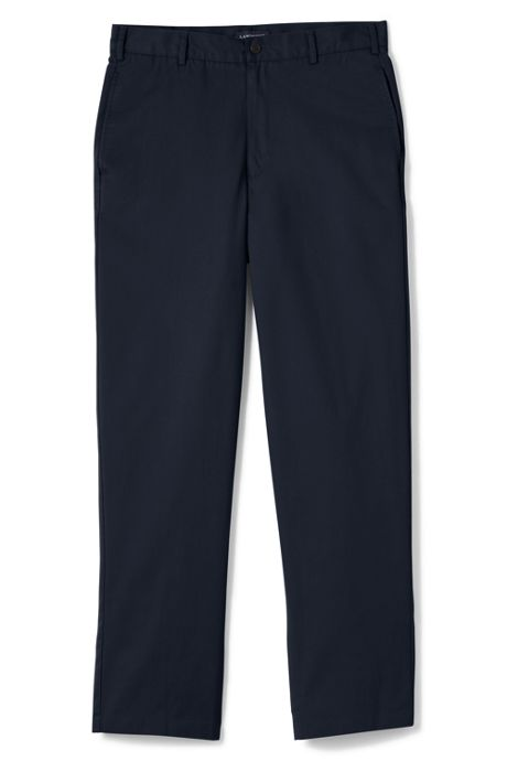 Men's Long Blend Plain Front Chino Pants