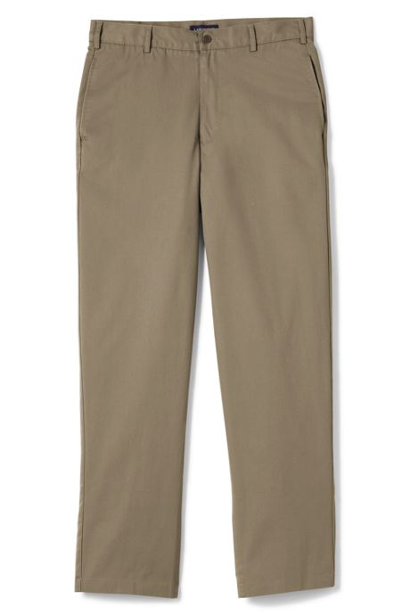 School Uniform Men's Long Blend Plain Front Chino Pants
