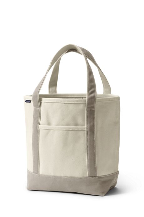 Natural Open Top Canvas Tote