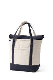 School Uniform Medium Zip Top Canvas Tote