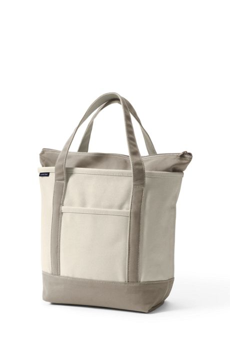 Natural Zip Top Canvas Tote