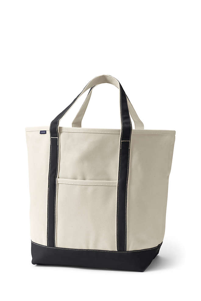 School Uniform Large Open Top Canvas Tote , Front